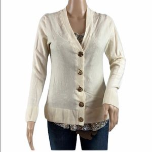 Preloved Tory Burch Beige Cardigan